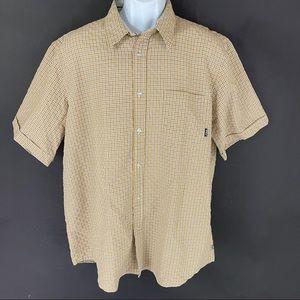 Billabong Men's Tan Button Shirt L
